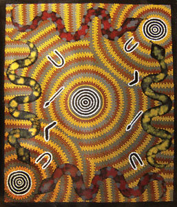 Pittura degli dei maca museo civico d 39 arte contemporanea for Arte aborigena