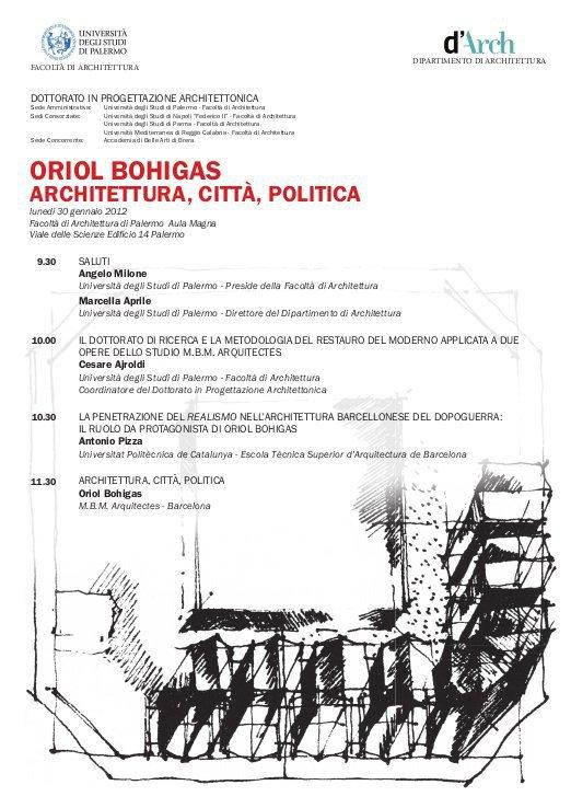 Oriol bohigas universita 39 degli studi facolta 39 di for Facolta architettura palermo