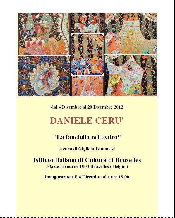Istituto Italiano Di Cultura Di Zurigo Home: Daniele Ceru' Istituto Italiano Di Cultura Bruxelles