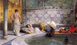 Dipinti da mille e una notte di francesca baboni su stile - Il bagno turco dipinto ...